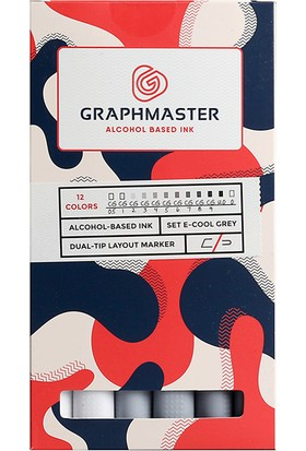 Graphmaster Alcohol Based Ink Markör 12Li Set-E