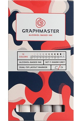 Graphmaster Alcohol Based Ink Markör 12Li Set-F
