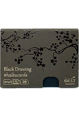 Sm.Lt Black Cards In The Box 147X106 24Yp 300Gr