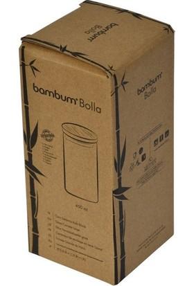 Bambum Bolla Hava Sızdırmaz Lüx Bambu Cam Saklama Kabı 450 ml