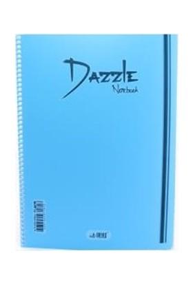 Dazzle 96 Yp Plastik Kapalı Spralli A4 Defter