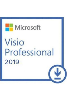 Microsoft Visio Professional 2019 Türkçe-İngilizce Elektronik Lisans D87-07425