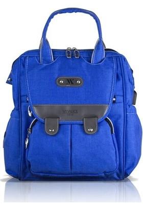My Valice Smart Bag Tiny Usb'li Anne Bebek Bakım ve Sırt Çantası Saks Mavi