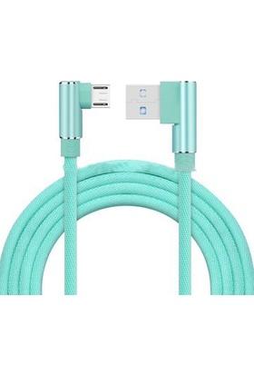Twinix Micro USB Şarj Kablosu 90 Derece Hızlı Şarj