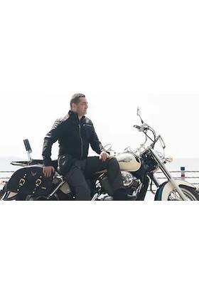 Tex 92 Xl Motosiklet Chooper Deri Heybe Yan Çanta Takım