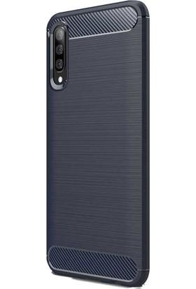 Teleplus Samsung Galaxy A50 Özel Karbon Silikon Kılıf Lacivert