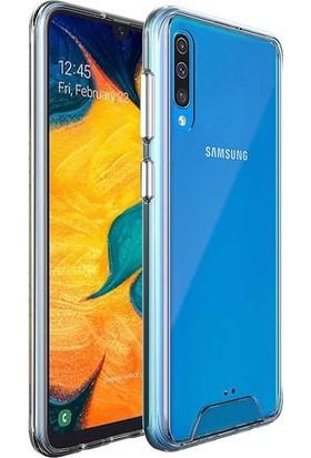 Teleplus Samsung Galaxy A50 Kılıf Gard Darbe Korumalı Silikonlu Şeffaf