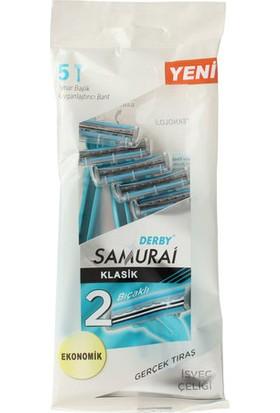 Derby Samurai Klasik 2 Bıçaklı 5'li Poşet