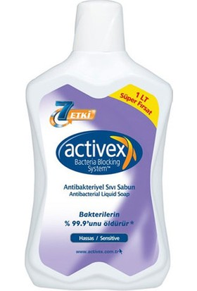 Activex Sıvı Sabun Antibakteriyel 1 L