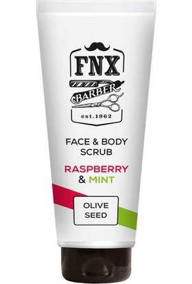 Fnx Barber Raspberry-Mint Yüz ve Vücut Scrub Maske 250 ml