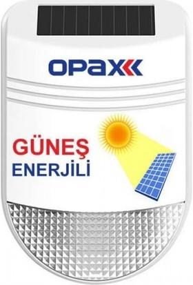 Opax Güneş Enerjili (Solar) Sirenli Alarm Seti