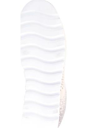 Kinetix Pembe Kadın Günlük Ayakkabı 100358108 9P Gian Knit W Pudra/Beyaz