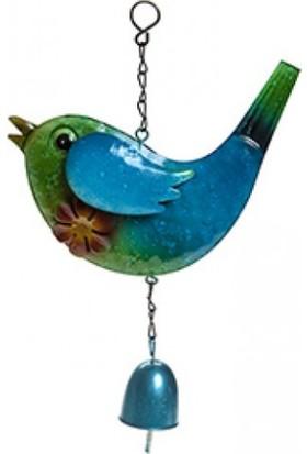 Bosphorus Kuş Şekilli Rüzgar Çanı Mavi Renkli