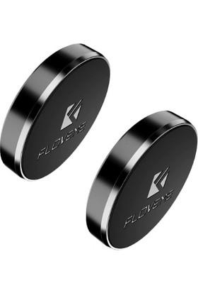 Floveme Yapışkanlı Araç İçi Mıknatıslı Telefon Tutucu 2 Adet - Siyah