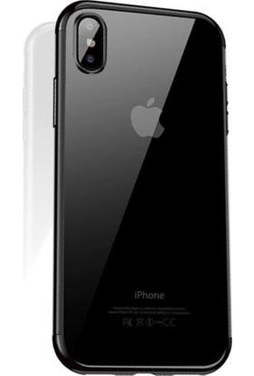 Cafele iPhone X Das Serisi Silikon Kılıf Siyah + Vendas Ekran Koruyucu