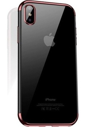 Cafele iPhone X Das Serisi Silikon Kılıf Gold + Vendas Ekran Koruyucu
