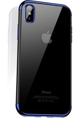 Cafele iPhone X Das Serisi Silikon Kılıf Mavi + Vendas Ekran Koruyucu