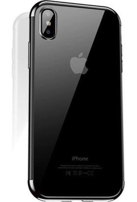 Cafele iPhone X Das Serisi Silikon Kılıf Silver + Vendas Ekran Koruyucu