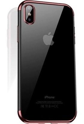 Cafele iPhone X Das Serisi Silikon Kılıf Rose Gold + Vendas Ekran Koruyucu