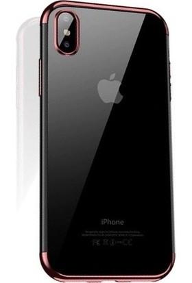 Cafele iPhone XS Das Serisi Silikon Kılıf Rose Gold + Vendas Ekran Koruyucu