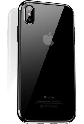 Cafele iPhone XS Das Serisi Silikon Kılıf Silver + Vendas Ekran Koruyucu