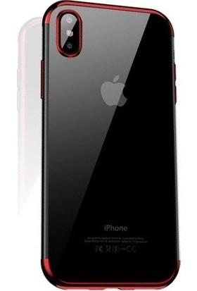 Cafele iPhone XS Max Das Serisi Silikon Kılıf Kırmızı + Vendas Ekran Koruyucu