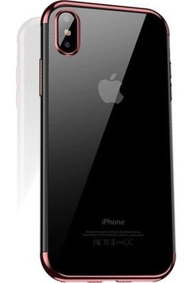Cafele iPhone XS Max Das Serisi Silikon Kılıf Rose Gold + Vendas Ekran Koruyucu