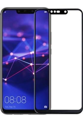 Dprui Huawei P20 Lite Tam Kaplayan Cam Ekran Koruyucu - Nano Fiber Siyah