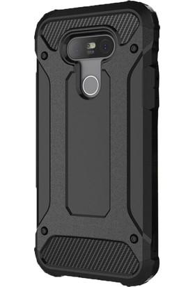 Case Street LG G5 Kılıf Crash Zırh Arka Koruma İron Sert Siyah