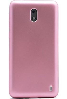 Case Street Nokia 2 Kılıf Premier Silikon Kılıf+Nano Glass Koruyucu Bronz