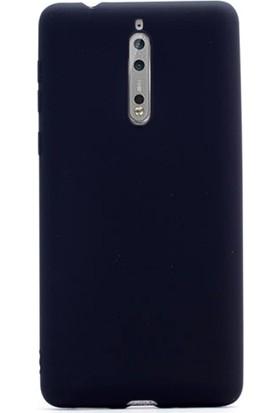 Case Street Nokia 8 Kılıf Premier Silikon Kılıf Mat Silikon Kılıf Siyah