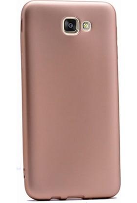 Case Street Samsung Galaxy J5 2015 Kılıf Premier Silikon Kılıf+Nano Glass Koruyucu Gold