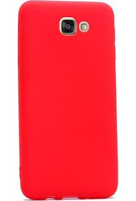 Case Street Samsung Galaxy J5 2015 Kılıf Premier Silikon Kılıf+Nano Glass Koruyucu Kırmızı