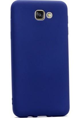 Case Street Samsung Galaxy J5 2015 Kılıf Premier Silikon Kılıf+Nano Glass Koruyucu Lacivert