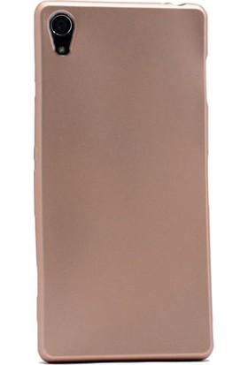 Case Street Sony Xperia Z2 Kılıf Premier Silikon Kılıf+Nano Glass Koruyucu Gold