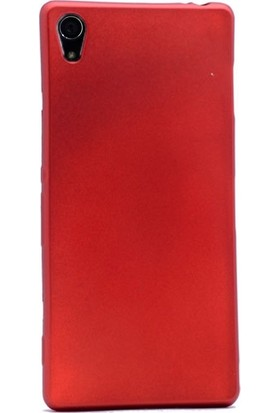 Case Street Sony Xperia Z2 Kılıf Premier Silikon Kılıf+Nano Glass Koruyucu Kırmızı