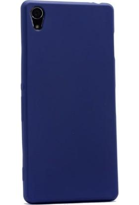Case Street Sony Xperia Z2 Kılıf Premier Silikon Kılıf+Nano Glass Koruyucu Lacivert