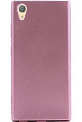 Case Street Sony Xperia XA1 Plus Kılıf Premier Silikon Kılıf Mat Kılıf Bronz