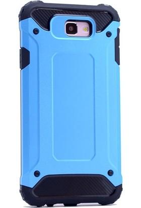 Case Street Samsung Galaxy A3 2017 Kılıf Crash Zırh Koruma + Nano Glass Mavi