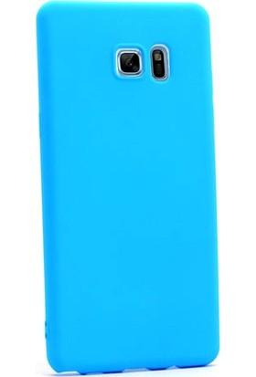 Case Street Samsung Galaxy Note Fan Edition Kılıf Premier Silikon Mavi
