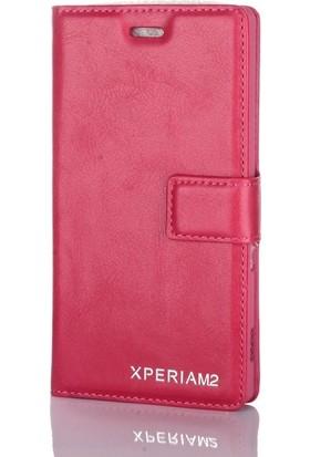Case Street Sony Xperia M2 Kılıf Serenity Cüzdan Standlı Pembe