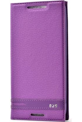 Case Street HTC Desire 828 Kılıf Elite Gizli Mıknatıslı Kapaklı Mor