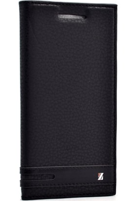 Case Street HTC M10 Kılıf Elite Gizli Mıknatıslı Kapaklı Kılıf Siyah