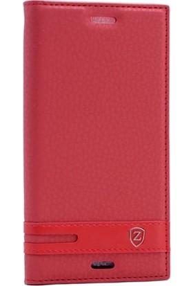 Case Street Sony Xperia X Compact Kılıf Elite Gizli Mıknatıslı+Nano+Kalem Kırmızı