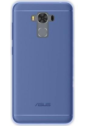 Case Street Asus ZenFone 3 Max ZC553KL Kılıf 02 mm Silikon+Nano Mavi