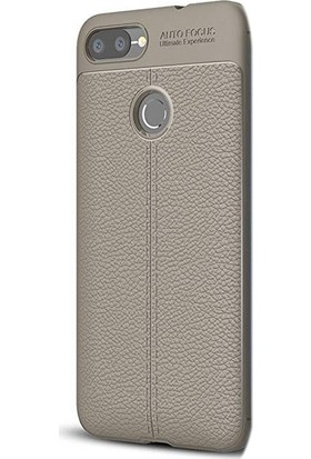 Case Street Asus Zenfone Max Plus Zb570TL Kılıf Niss Silikon+Nano Glass Bej