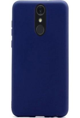 Case Street LG Q7 Plus Kılıf Premier Esnek Lüx Silikon + Nano Glass Lacivert