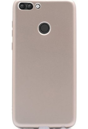 Case Street Asus Zenfone Max Plus ZB570TL Kılıf Premier Silikon+Nano Glass Gold