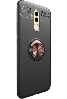 Case Street Huawei Mate 20 Lite Kılıf Ravel Yüzüklü+Nano Glass+Kalem Bronz