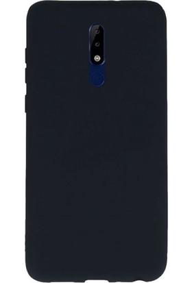 Case Street Nokia 5.1 Kılıfları Kılıf Premier Silikon Arka Koruma Siyah